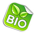 Bio sticker Stock Photo
