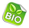 Bio sticker Royalty Free Stock Photo
