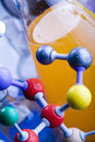 Biochemistry and atom Royalty Free Stock Photography