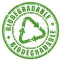 Biologicky rozložitelné zelený guma razítko