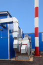 Biofuel boiler house Royalty Free Stock Photography