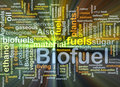 Biofuel fuel background concept glowing Royalty Free Stock Photo