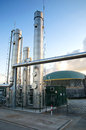 Biogas plant Stock Photography