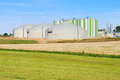Biogas plant modern renewable energy Stock Image