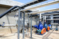 Biogas plant power in thailand Stock Image