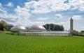 Biogas plant and sewage sludge drying Royalty Free Stock Photo