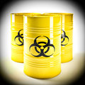 Biohazard barell d image of yellow Stock Images
