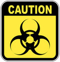 Biohazard caution sign Royalty Free Stock Images