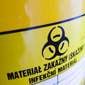 Biohazard container Stock Image