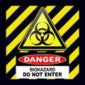 Biohazard danger sign Stock Image