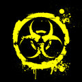 Biohazard detailed illustration of a grungy warning sign Stock Images