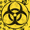 Biohazard graphic illustration design image Stock Images