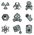 Biohazard Icons Freehand 2 Color