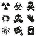 Biohazard Icons Freehand Fill