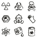 Biohazard Icons Freehand