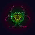 Biohazard an illustration of a fluorescent symbol includes transparent objects and blending modes Stock Photo