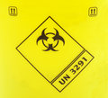 Biohazard sign on a yellow background Stock Photography