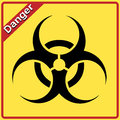 Biohazard sign. Yellow and black bio hazard Royalty Free Stock Images