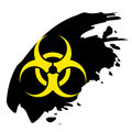 Biohazard sign yellow and black bio hazard Royalty Free Stock Photos