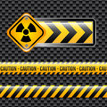 Biohazard signs over black background vector illustration Stock Images