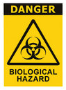 Biohazard symbol sign biological threat alert Stock Photos
