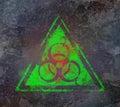 Biohazard symbol sign biological threat alert