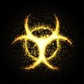 Biohazard warning, abstract background. Vector illustration.