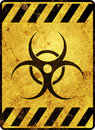 Biohazard Warning Sign Royalty Free Stock Photo