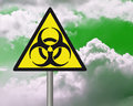 Biohazard warning sign. Royalty Free Stock Photo