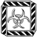 Biohazard warning sketch Stock Photography