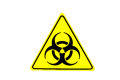 Biological hazard warning sign a yellow Stock Image