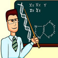 Biology or chemistry teacher Royalty Free Stock Photo