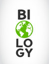Biology concept world symbol abstract background Stock Photos
