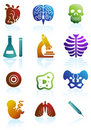 Biology Icon Set Stock Photography