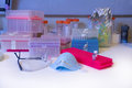 Biology Medical lab safety equipment Royalty Free Stock Photo