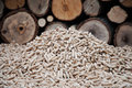 Biomass heap of pellets stock photo Royalty Free Stock Images