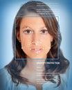 Biometrics, female Stock Photography