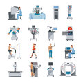 Bionic Icons With Surgical And Diagnostic Equipment Royalty Free Stock Photo