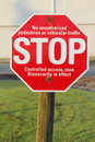 Biosecurity Stop Sign Royalty Free Stock Image