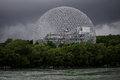 The biosphere before storm montreal canada Royalty Free Stock Photos