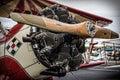 Biplane Engine Royalty Free Stock Photo