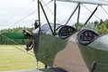 Biplane polikarpov po aircraft ww cockpit the Royalty Free Stock Photo