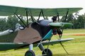 Biplane polikarpov po aircraft ww on ground the Stock Photography