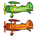 Biplane a single engine retro style sports Stock Photo