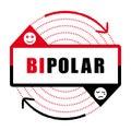 Bipolar disorder icon II. Mental disease.