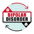 Bipolar disorder icon III. Mental disease.