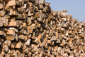 Birch firewood Stock Photos