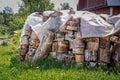 Birch firewood Royalty Free Stock Photo