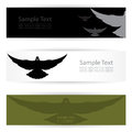 Bird banners vector image of an Stock Photography