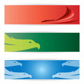 Bird banners vector image of an Stock Images